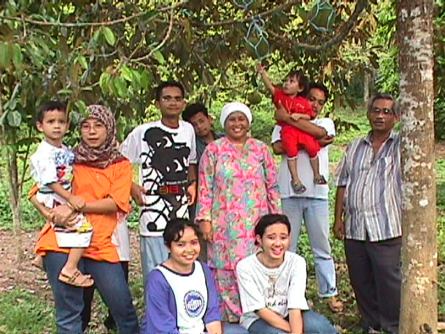 My family at our durian orchard