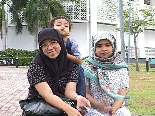 My wife, son and my sister, Azah